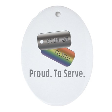 Proud. To Serve. Oval Ornament