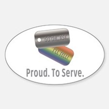 Proud. To Serve. Oval Decal