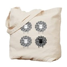 Black Faced Yarn Sheep Tote Bag
