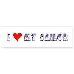 I Love My Sailor Bumper Bumper Sticker