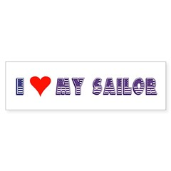 I Love My Sailor Bumper Bumper Sticker