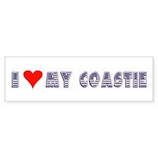 I Love My Coastie Bumper Bumper Sticker