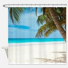 Cute Clear background Shower Curtain