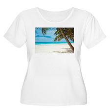 Beach Plus Size T-Shirt
