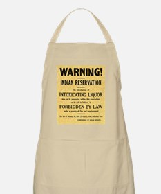 Warning! No Alcohol BBQ Apron