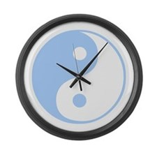 Ying yang Large Wall Clock