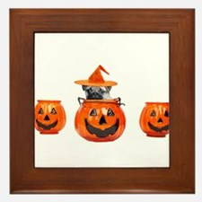 Halloween Pug Dog Framed Tile