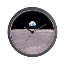 Space Christmas Gift Wall Clock Earthrise Apollo11