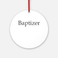 Baptizer Ornament (Round)