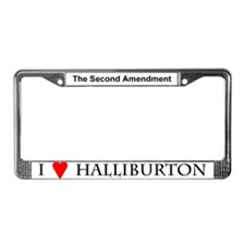 """""""I Love Halliburton"""" License Plate Frame"""