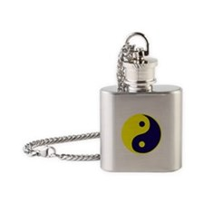 Cute Ying yang Flask Necklace