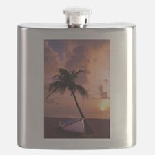 Cute Red cloudy sunrise Flask