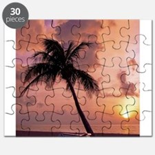 Cute Red cloudy sunrise Puzzle