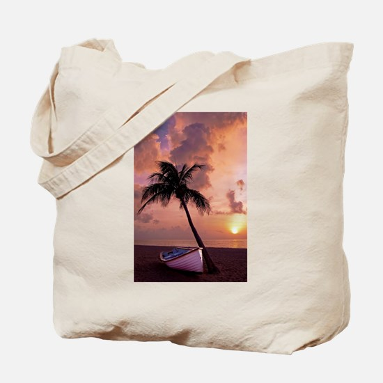 Unique Red cloudy sunrise Tote Bag