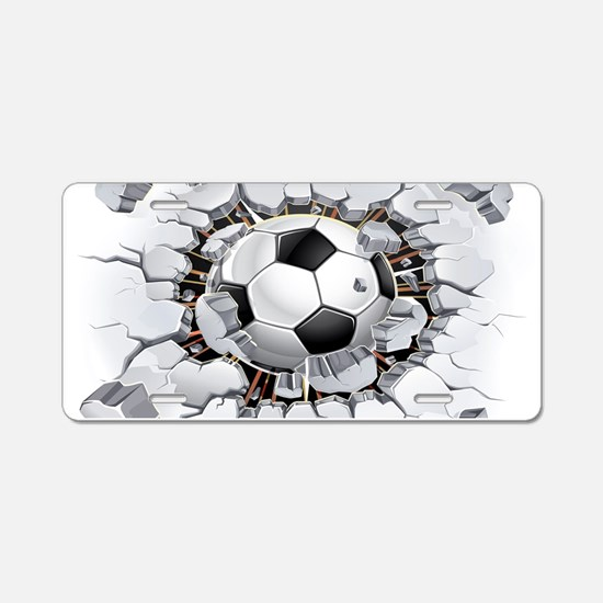 Soccer Ball Aluminum License Plate