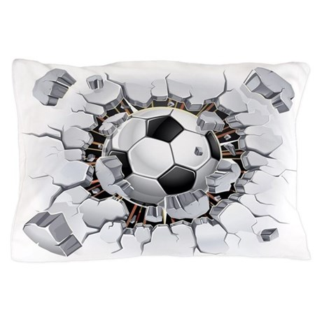 Soccer Ball Pillow Case by FloriDesigns