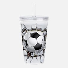 Soccer Ball Acrylic Double-wall Tumbler