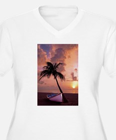 Sunset with Boot Plus Size T-Shirt