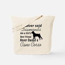 Funny Cane corsos Tote Bag