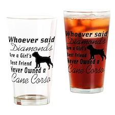 Cute Cane corso Drinking Glass