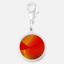 Orange and Yellow Digital Abstract Charms