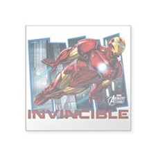 "Iron Man Invincible Square Sticker 3"" x 3"""