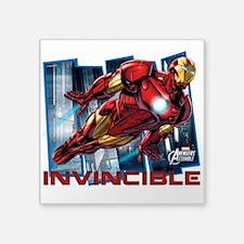 """Iron Man Invincible Square Sticker 3"""" x 3"""""""