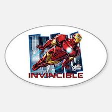 Iron Man Invincible Sticker (Oval)