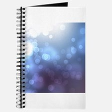 Purple Blue Bokeh Abstract Texture Journal