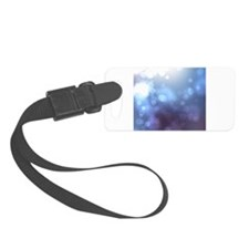 Purple Blue Bokeh Abstract Texture Luggage Tag