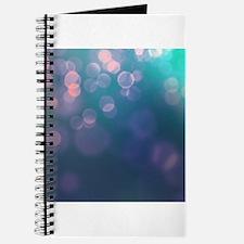 Blue Green Bokeh Abstract Texture Journal