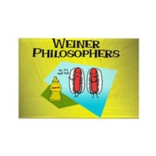 Weiner Philosophers... Rectangle Magnet
