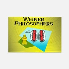 Weiner Philosophers... Rectangle Magnet