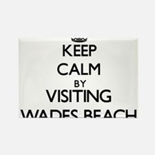 Keep calm by visiting Wades Beach New York Magnets