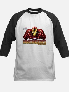 Iron Man Fists Kids Baseball Jersey