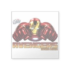 "Iron Man Fists Square Sticker 3"" x 3"""