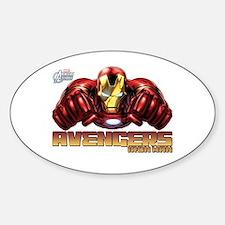 Iron Man Fists Sticker (Oval)