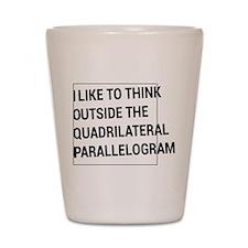 Quadrilateral parallelogram Shot Glass