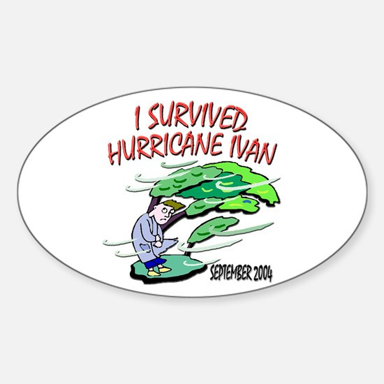 Survived Hurricane Ivan Oval Decal