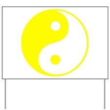Cute Yin yang Yard Sign