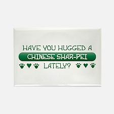 Hugged Shar-Pei Rectangle Magnet