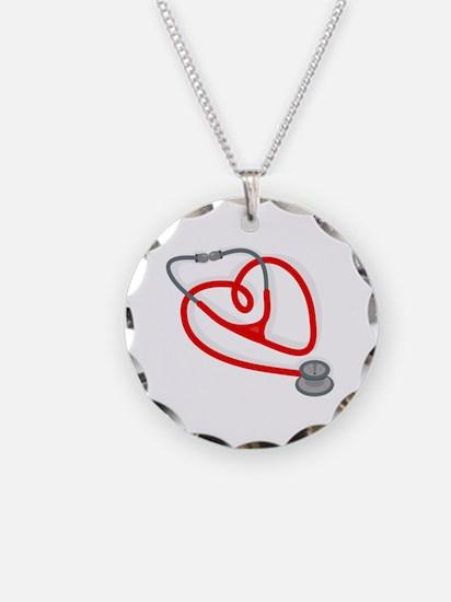 Stethoscope Heart Necklace