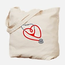 Stethoscope Heart Tote Bag