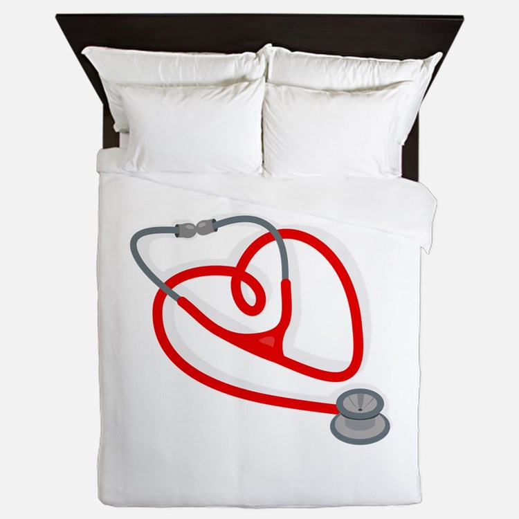 Stethoscope Heart Queen Duvet