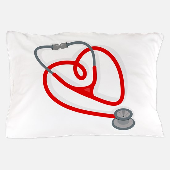 Stethoscope Heart Pillow Case