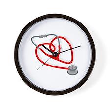 Stethoscope Heart Wall Clock