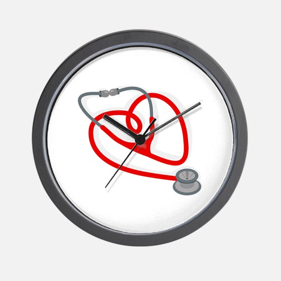 Stethoscope Heart Wall Clock