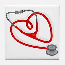 Stethoscope Heart Tile Coaster