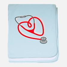 Stethoscope Heart baby blanket