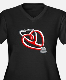 Stethoscope Heart Plus Size T-Shirt